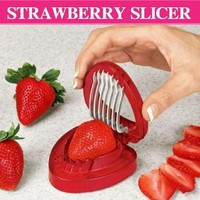 1PCS  strawberry slicer Kitchens cooking gadgets accessories supplies fruit carving tools salad cutter Free