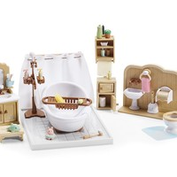 Calico Critters DELUXE BATHROOM FURNITURE SET (40+ pcs)  ~NEW~