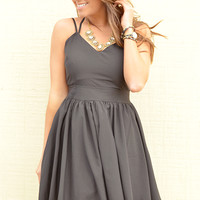 Come Back Home & Stay Dress: Black
