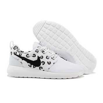 sports shoes 37098 ca864 NIKE Roshe WMNS White Leopard Running Sport Casual Sneakers Shoes