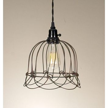 Small Wire Bell Pendant Lamp