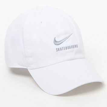 a0ebbd0091399 Nike SB H86 Twill White Strapback Dad Hat at PacSun.com