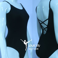 Louis xiv ballet professional ballet leotard dance coverall adult double spaghetti strap 4