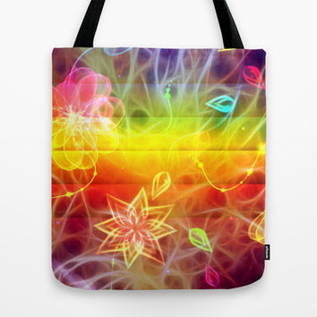 Collage,pop art of healing energies chakra colors Tote Bag by Healinglove products