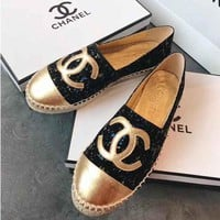 Chanel Fashion Espadrilles Flats Shoes
