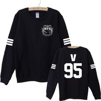 Kpop Bts suga v Harajuku Bangtan Boys Women Hoodies Sweatshirt Tracksuits Women Autumn Winter Outerwear Long Sleeve Bts Logo