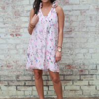 Buddy Love Anna Pink Feathers Dress