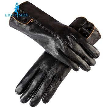 women's gloves mittens,Genuine Leather,Cotton lining,leather gloves for women,warm leather gloves for women genuine leather