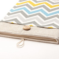 iPad cover. Case for iPad mini with retina display. iPad AIR sleeve with chevron pocket, case, bag, pouch. Tablet case.  iPad 1 2 3 4 cover.