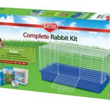 Kayte Rabbit Complete Kit & Cage w/ Bedding, Food, Bowl, Water Bottle