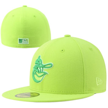New Era Baltimore Orioles Tonal Pop Basic 59FIFTY Fitted Hat - Neon Green