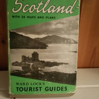 WARD LOCK Scotland vintage tourist guide 1950s complete with 28 fold out maps