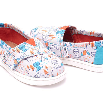 GREY MULTI CANVAS BEARS TINY TOMS CLASSICS