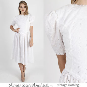 Gunne Sax Dress Vintage Dress Boho Dress Hippie Dress 70s Dress Bohemian Dress Jessica McClintock Dress White Dress Vintage Dresses