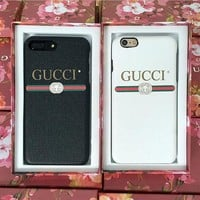 GUCCI Fashion iPhone Phone Cover Case For iphone 6 6s 6plus 6s-plus 7 7plus hard shell F
