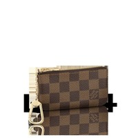 LOUISVUITTON.COM - Louis Vuitton Key Pouch Damier Ebene Canvas Card and Key Holders