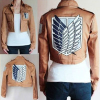 1 Attack On Titan Shingeki No Kyojin Scouting Legion Cosplay Costume Jacket Coat