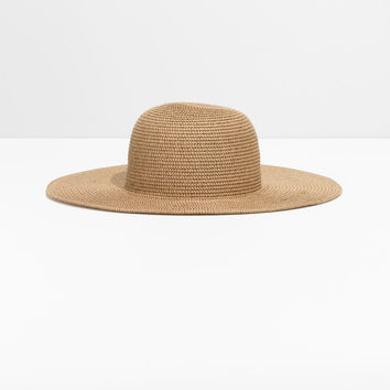 Wide Brim Straw Hat - Beige - Hats - & Other Stories US