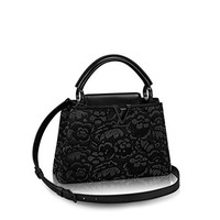 Fashion Classic Women LV Rose Handbag Shoulder Bag Black
