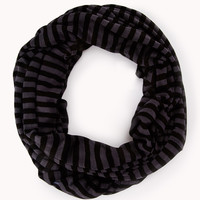 Sleek Striped Infinity Scarf