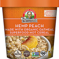 Dr. McDougall's Hemp Peach Superfood Hot Cereal made with Organic Grains - Pack of 6