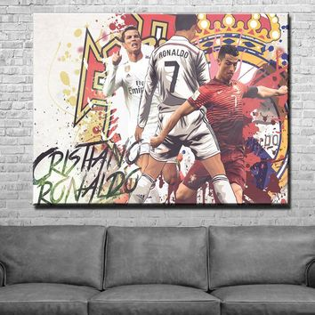Cristiano Ronaldo Splash Art Canvas Set
