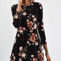 Floral Velvet Flippy Dress - New In
