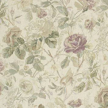 Ralph Lauren Fabric LFY64348F Marston Gate Floral Vintage Rose