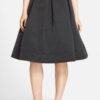 Women's Eliza J Pleated Faille Midi Skirt