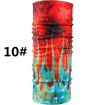 10PCSFashion Outdoor Sports Men Scarves Cycling Hiking Bandanas Hood Ride Cycle Kerchief Polyester Male Scarf Head Decoration