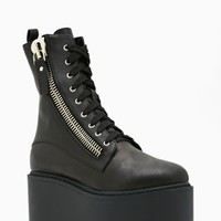 UNIF Trench High Platform Boot
