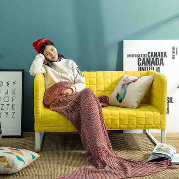 Mermaid Sofa Handcrafts Blanket [6284138630]