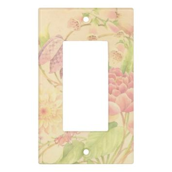 Peony Floral Print Light Switch Plates