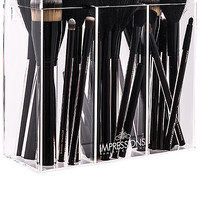 Impressions Vanity Diamond Collection Brush Holder in Clear | REVOLVE