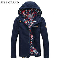 Men's HEE GRAND Hooded Fashion Casual Jacket