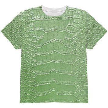 CREYCY8 Halloween Alligator Costume All Over Youth T Shirt