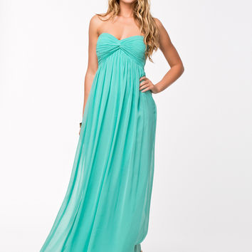 DREAMY DRESS - Turquoise Maxi dress by NELLY TREND