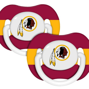 Washington Redskins Pacifier 2 Pk