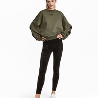 Crushed Velvet Leggings - from H&M
