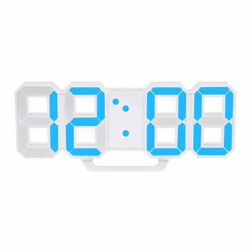 Modern Design Large Size Digital LED Wall Clock Watch Unique Vintage Home Decoration Timer Watch Alarm Clocks Hot New