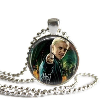 Draco Malfoy Silver Plated Pendant Harry Potter Necklace