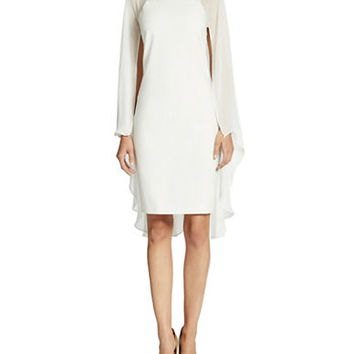 Belle By Badgley Mischka Cape Dress
