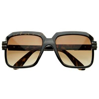 Vintage Inspired Bold Thick Frame Square Frame Sunglasses