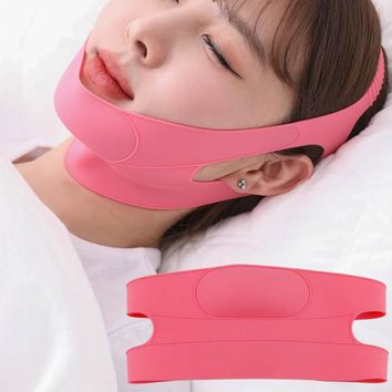 Skincare, Breathable Removal Slimming Mask, V Face, Double Chin Lifting, Face Firming Sleep Band