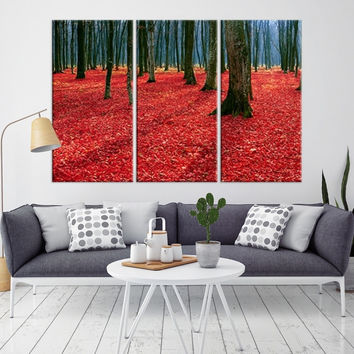 14079 - Forest Wall Art- Autumn Canvas Print- Forest Canvas- Forest Canvas Art- National Art Print- Canvas Print- Large Wall Art-