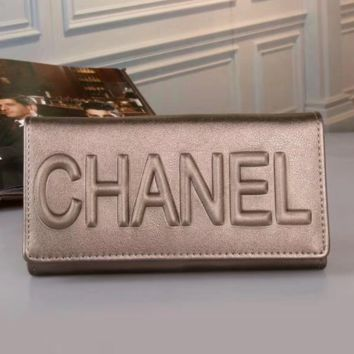 CHANEL Women Fashion Leather Buckle Wallet Purse