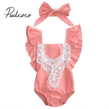 Baby rompers Toddler Infant Baby Girl Romper Jumpsuit Lace Outfits Costume
