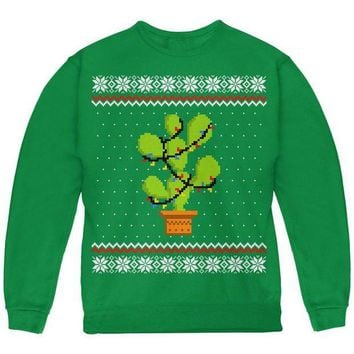 DCCK8UT Cactus Prickly Pear Tree Ugly Christmas Sweater Youth Sweatshirt