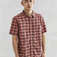 CPO Brushed Plaid Short-Sleeve Button-Down Shirt