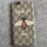GUCCI printing Hornet iPhone7 phone shell iPhone6plus couple protection shell Gucci printing